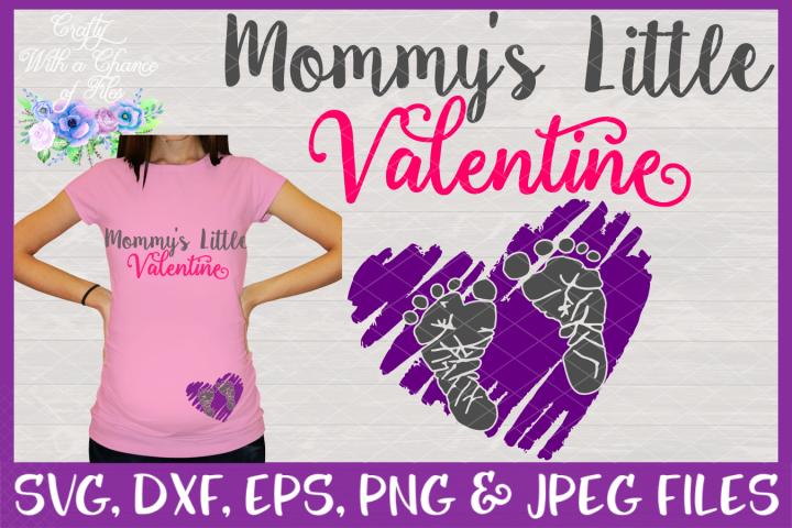 Mommys Little Valentine SVG - Maternity/Pregnancy Design