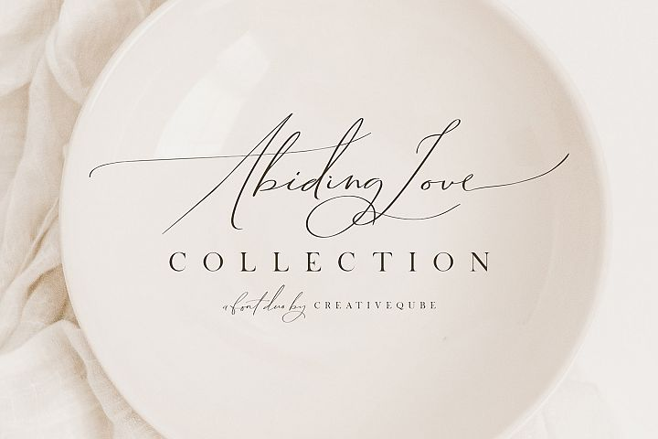 Abiding Love Collection Fonts