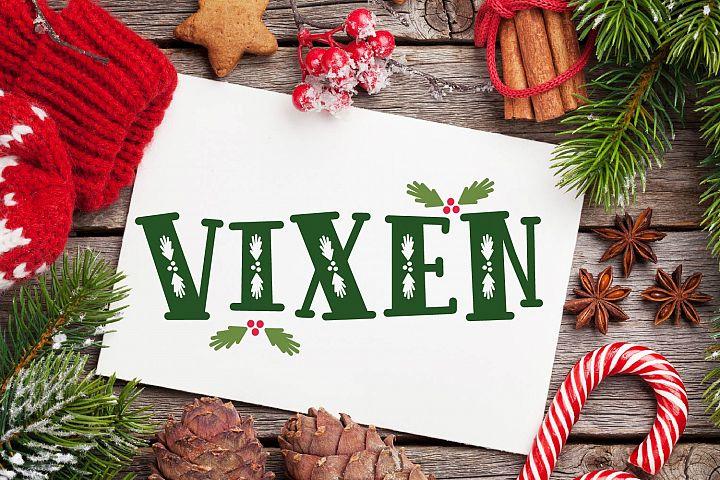 VIXEN - A festive Christmas font!