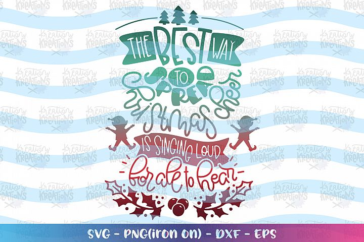 Christmas svg Elf quote svg Christmas cheer svg