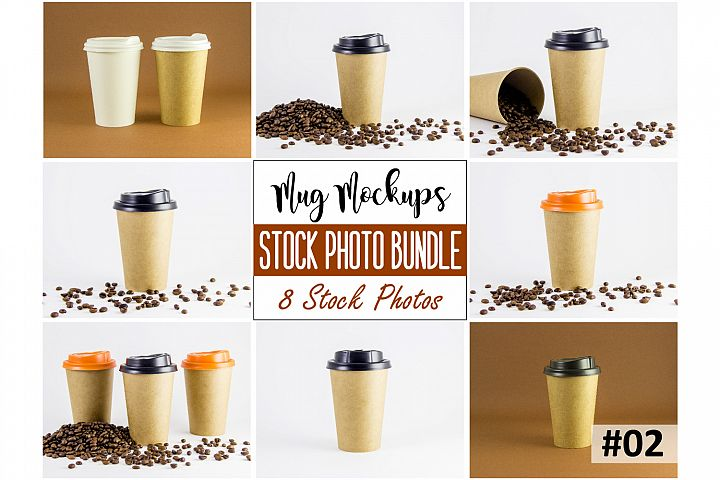 Coffee cup mockup bundle #2, paper coffee cup, mockup bundle