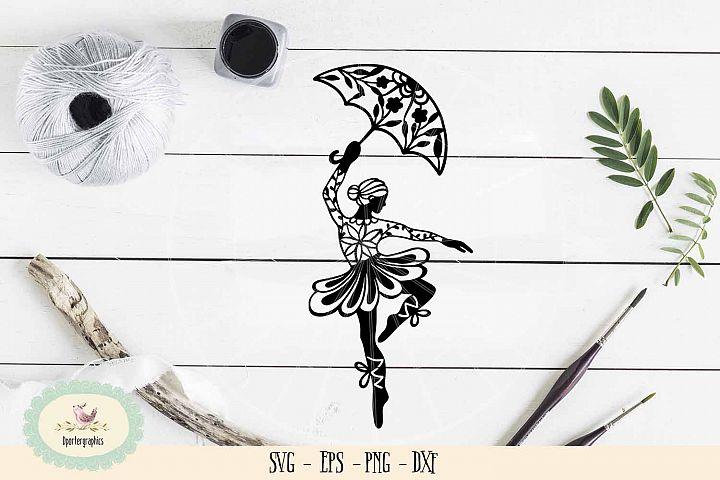 Gymnastic girl paper cut SVG PNG dancing girl