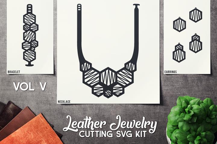 Leather Jewelry CUT Template- Earrings - Braceles - VOL 5