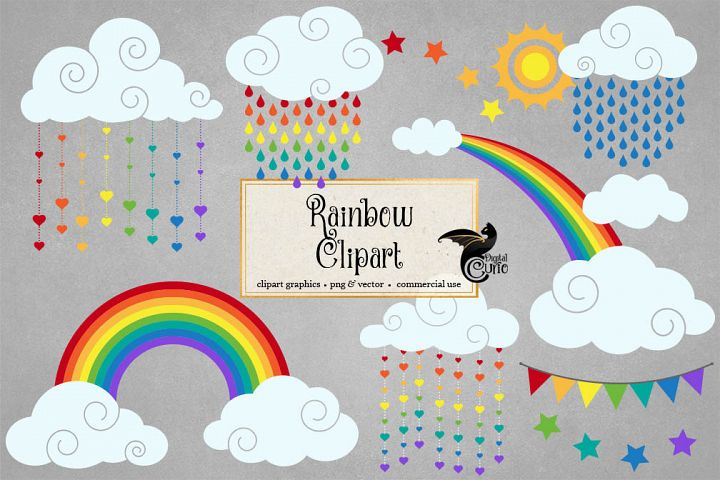 Vector Rainbow Clipart
