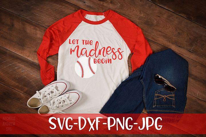 Let the madness begin, Baseball, SVG