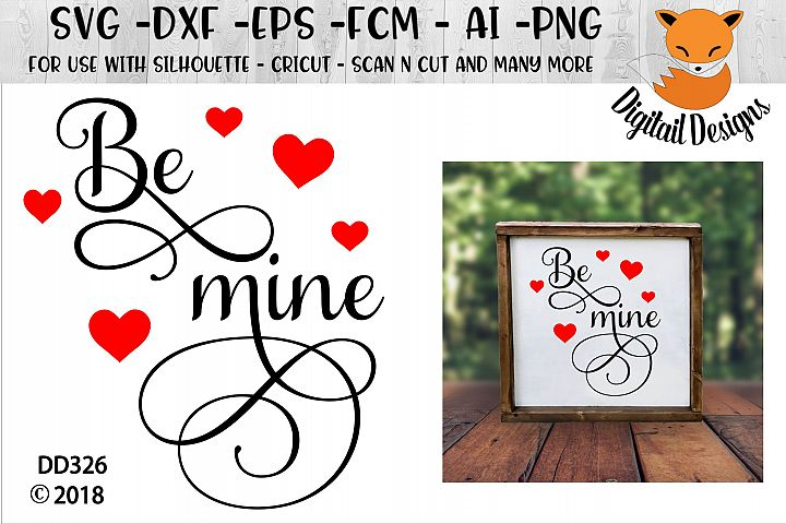 Be Mine Valentine SVG