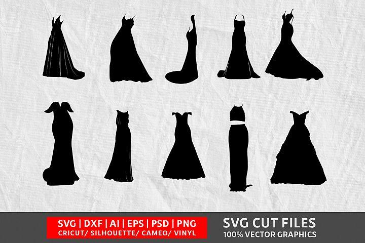 Wedding Dress SVG Cut File