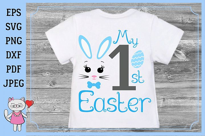 My First Easter SVG, Bunny boy toddler.