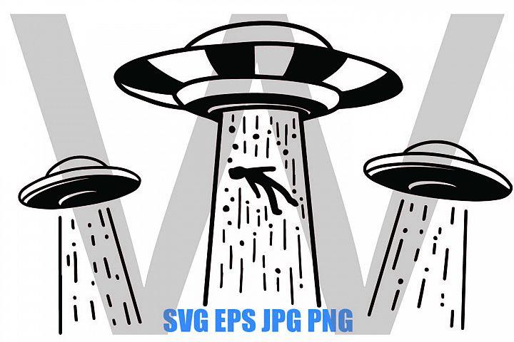 UFO Abduction - SVG EPS JPG PNG
