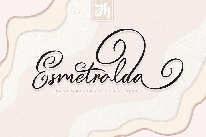 Esmetralda - Handwritten Font