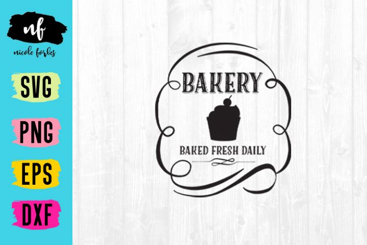 Bakery Rustic Sign SVG Cut File