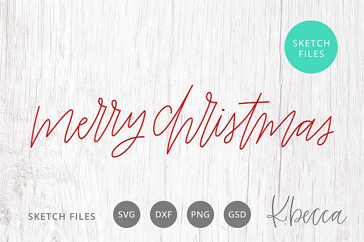 Foil Quill Sketch Merry Christmas SVG