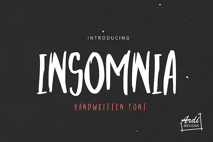 Insomnia Font