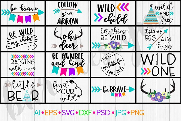 Wild Child SVG Bundle, SVG Bundle, SVG File