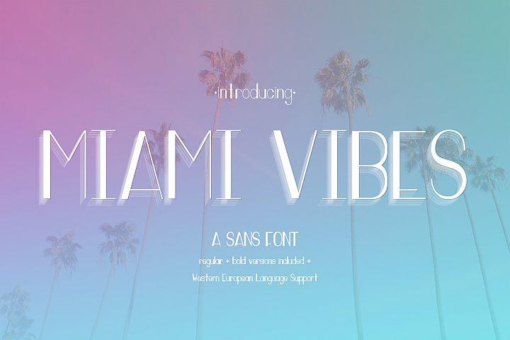 Miami Vibes Art Deco Sans Font