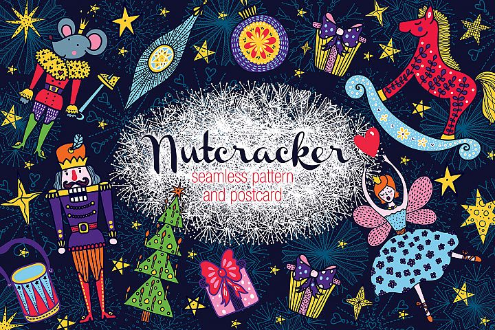 Nutcracker. Christmas story.