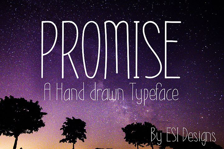 Promise - A Modern Hand Drawn Font