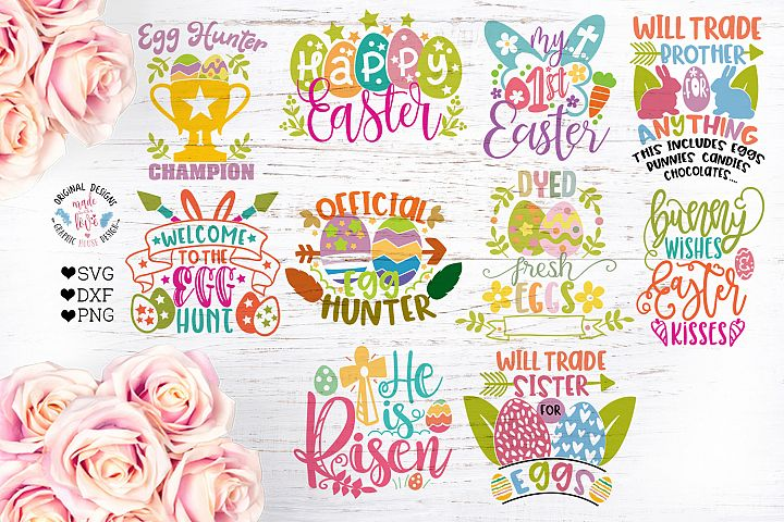 Easter Cut Files Bundle Ten Designs
