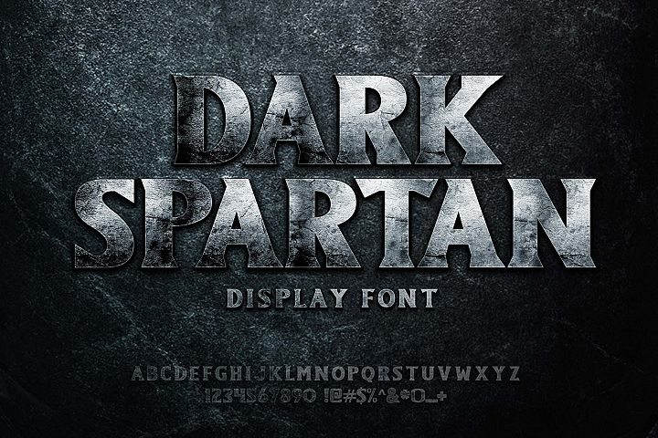Dark Spartan Display Font