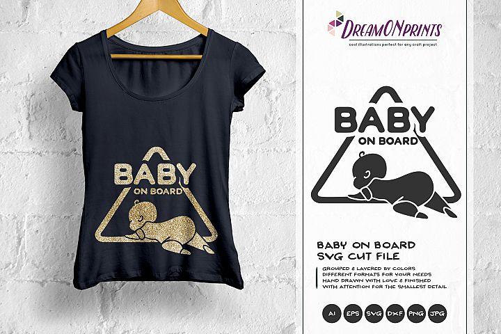 Baby on Board SVG Cut File