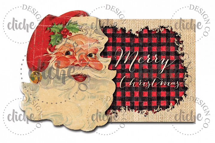 Christmas Santa Sublimation Design