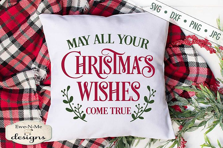 Christmas Wishes - Holiday - SVG DXF Files