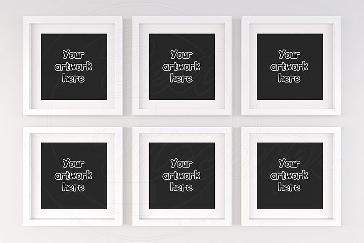 Six collage square frame mock ups