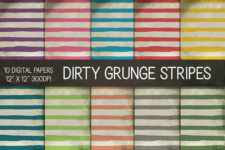 Dirty Grunge Striped Digital Papers, Grunge Texture Paper