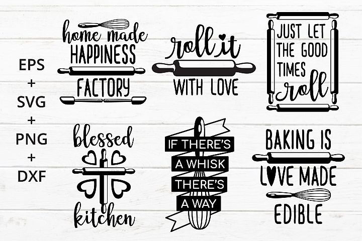 Baking Kitchen Theme SVG crafter