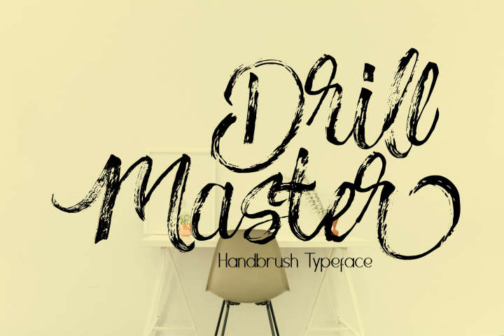 Drillmaster Handbrush Typeface