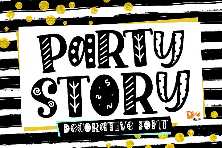 Party Story - Decorative Font