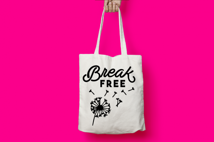 BREAK FREE, SVG Cut File, Dandelion Silhouette