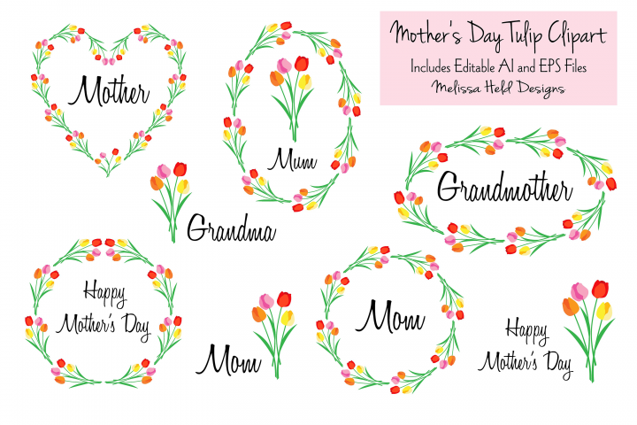 Mothers Day Tulip Clipart