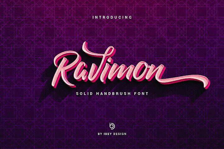 Ravimon - Solid Handbrush Font