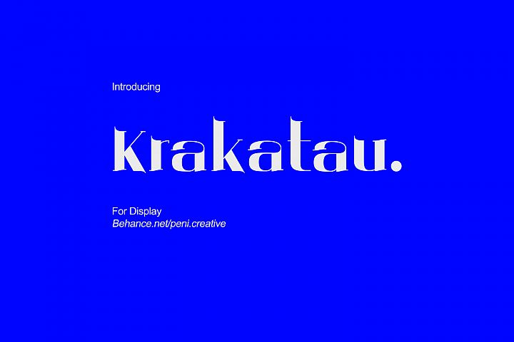 Krakatau - Display Font