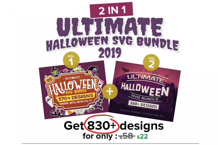 Ultimate Halloween SVG Bundle Vol. 1 & Vol. 2 in SVG & DXF