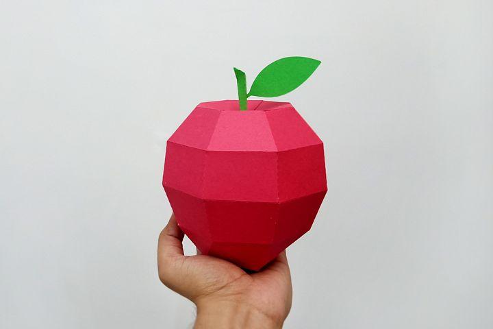 DIY Papercraft Apple,Papercraft fruit,Paper toy,Cricut files