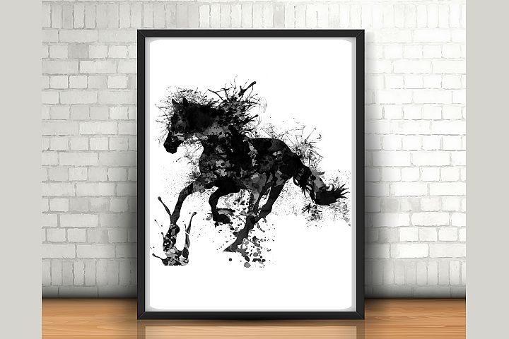 Horse wall art  - size 24x36 inches - High Resolution (300 dpi) -  ( JPG File )