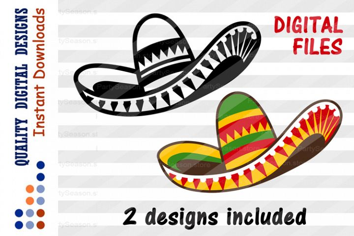SET Sombrero clipart Cinco de mayo shirt svg design