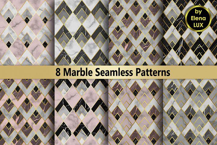 Art Deco Marble Seamless Set