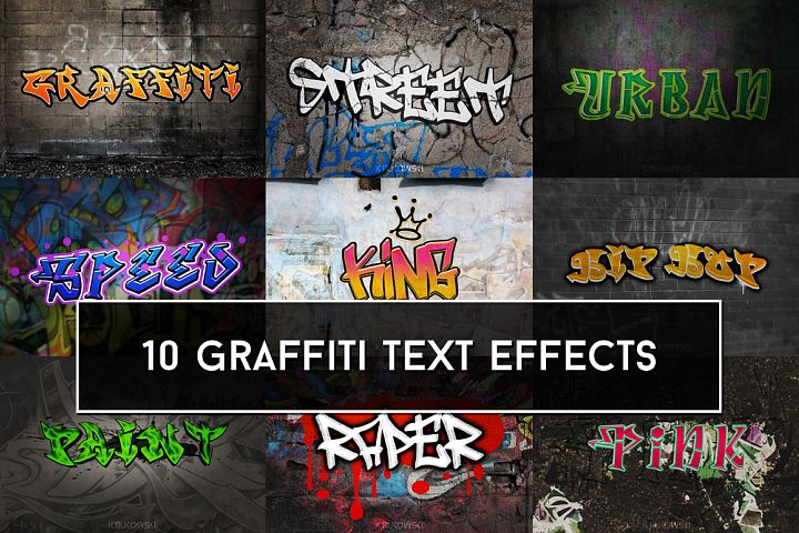 Graffiti Text Effects Mockup