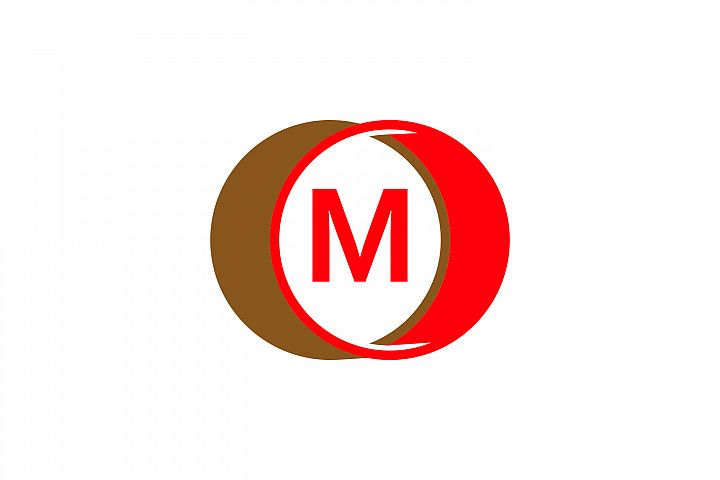 m letter circle logo