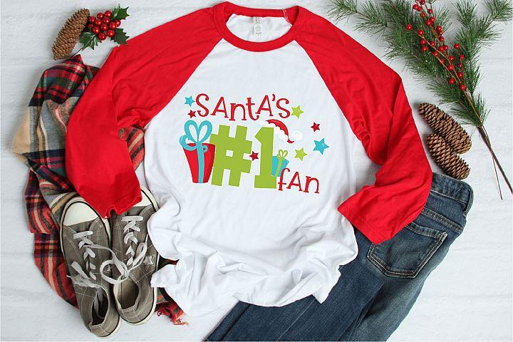 Christmas SVG, Santas Number One Fan Sublimation