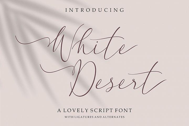 White Desert // Lovely Script Font
