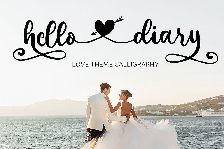 Hello Diary - Lovely Theme Calligraphy