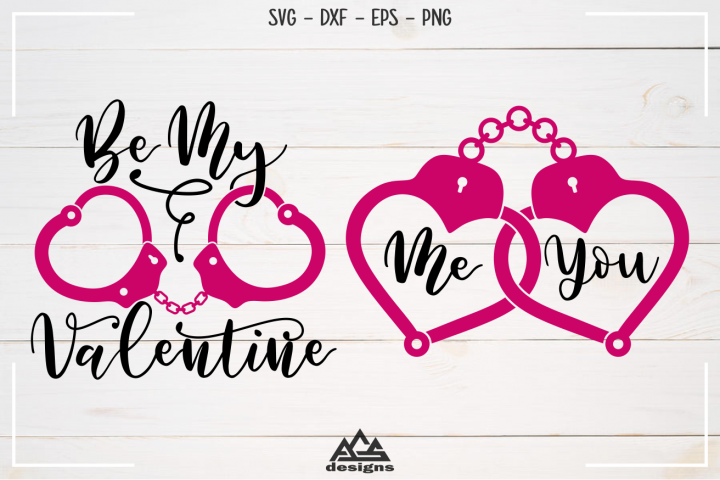 Handcuffs Valentine Svg Design