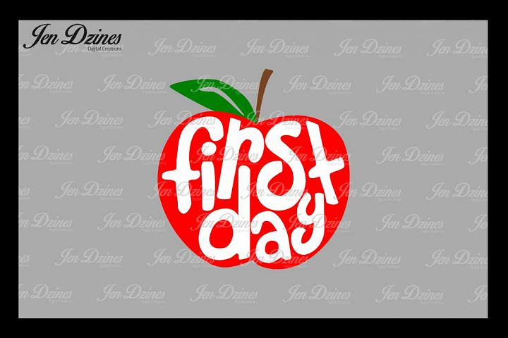 First Day Apple SVG DXF EPS PNG