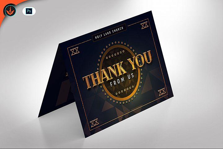 Gold Art Deco Gala Thank You Card Template