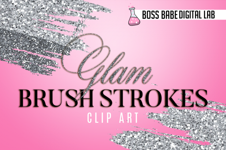 Glam and Glitz Brush Stroke Clipart