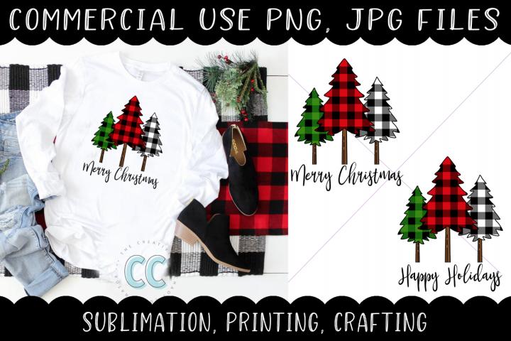 Christmas/Holiday Plaid Trees